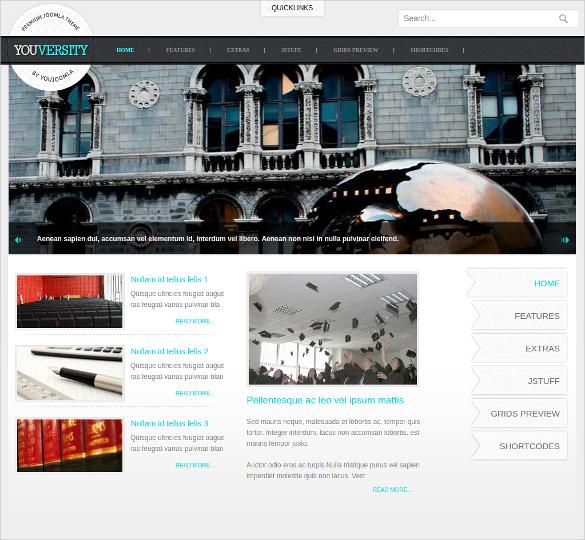 education project lms joomla template