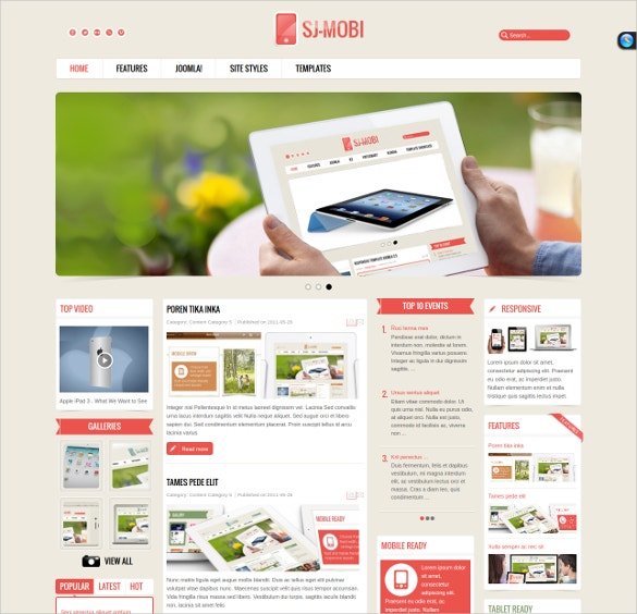 responsive web designed technology joomla template