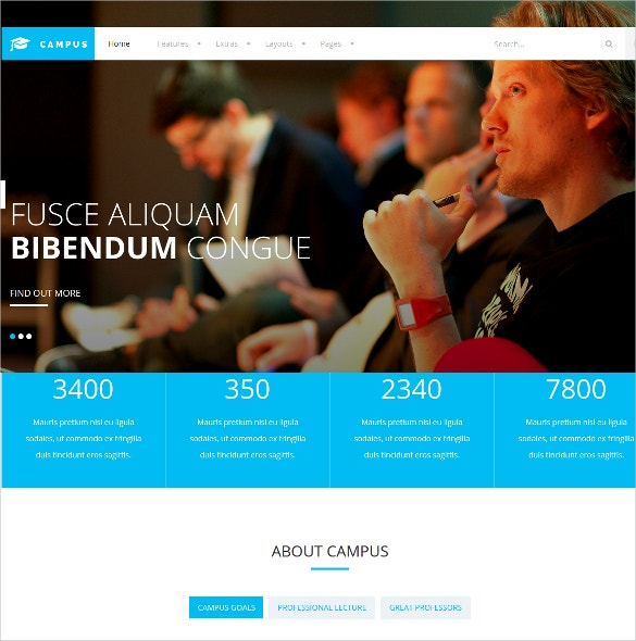 joomla template for lms campus