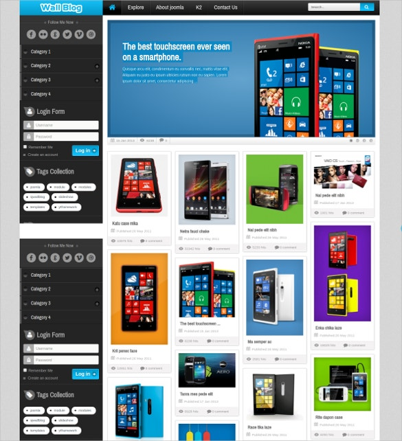 responsive technology joomla template