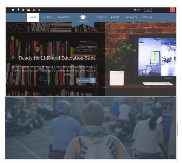 responsive joomla education lms template