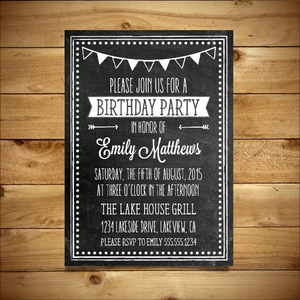 10 MS Word Format Birthday Templates Free Download – Birthday Invitation Template Word