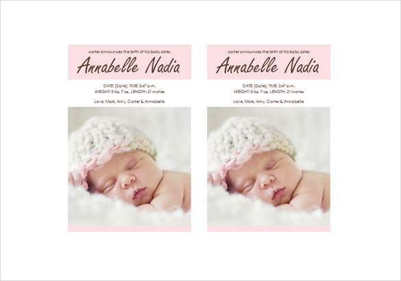 cute baby girl brithday invitation ms word template