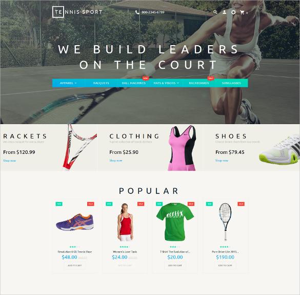 premium tennis sport prestashop theme 139