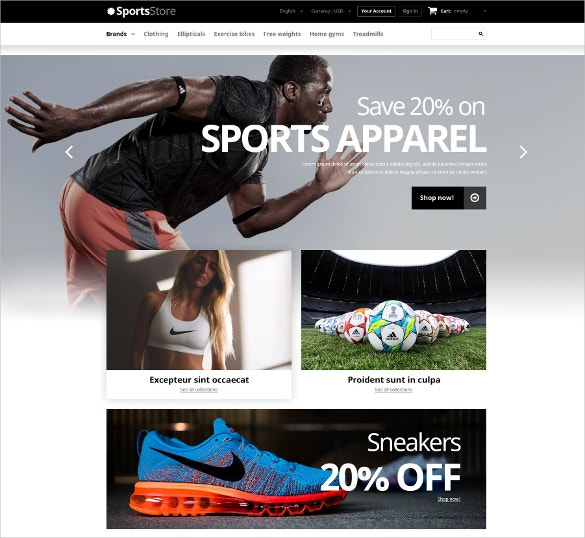 sports apparel clothes equipment prestashop theme 139