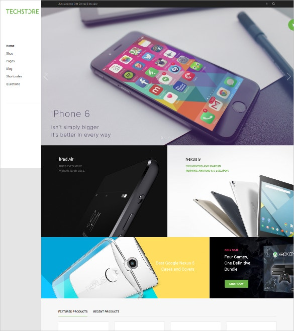 mobile store wp ecommerce theme