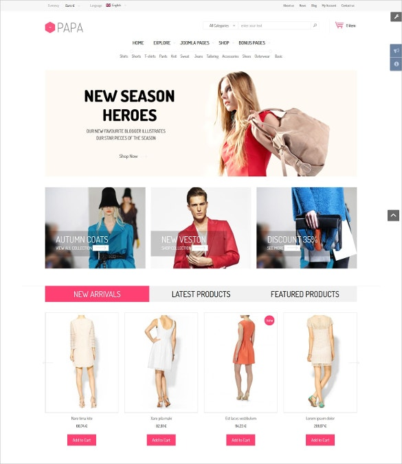awesome mobile store ecommerce template