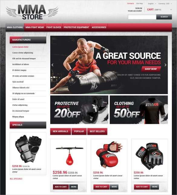 sports clothes store prestashop theme 139