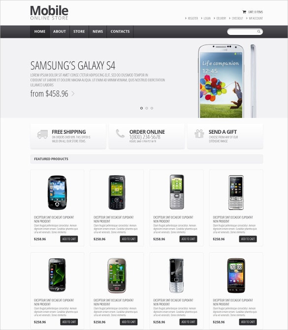 22 best mobile store mobile templates themes free for Mobili store online