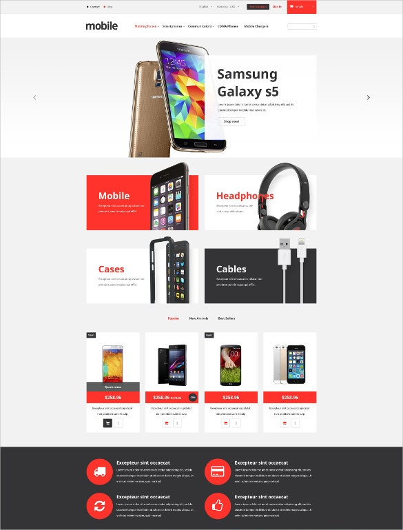 mobile phones store prestashop ecommerce theme