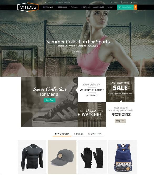 prestashop sports fitness responsive theme 70