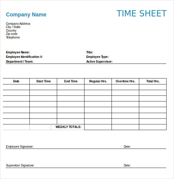 numbers timesheet template word format