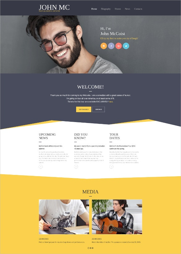 12  most useful author website themes  u0026 templates