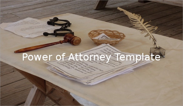 power of attorney template