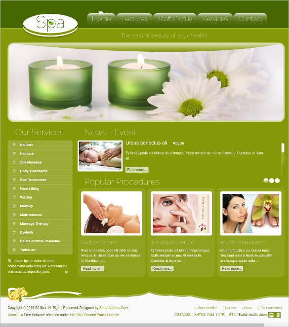 beauty care spa salon joomla theme 59