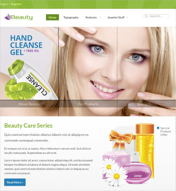 premium beauty care spa salon joomla theme
