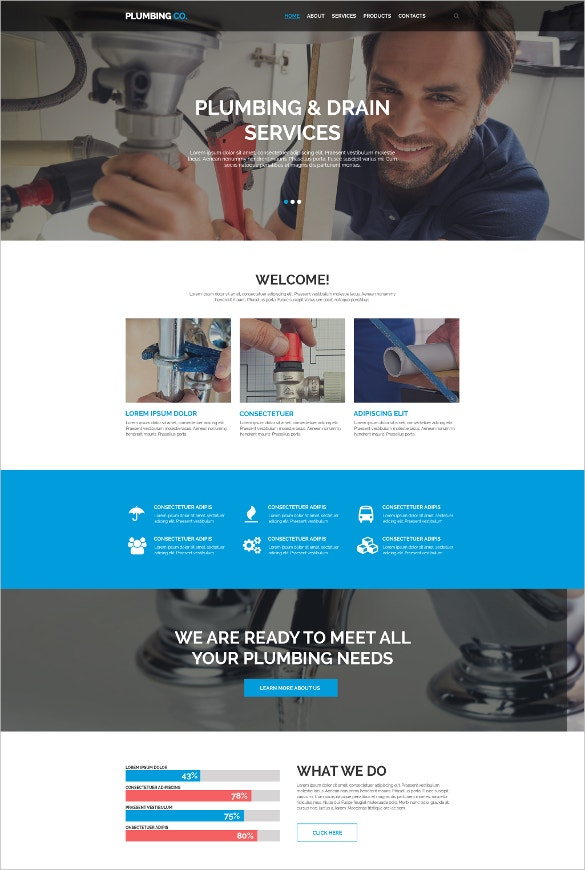19 amazing plumber website themes templates free premium plumbing responsive website template 69 free demo download pronofoot35fo Image collections