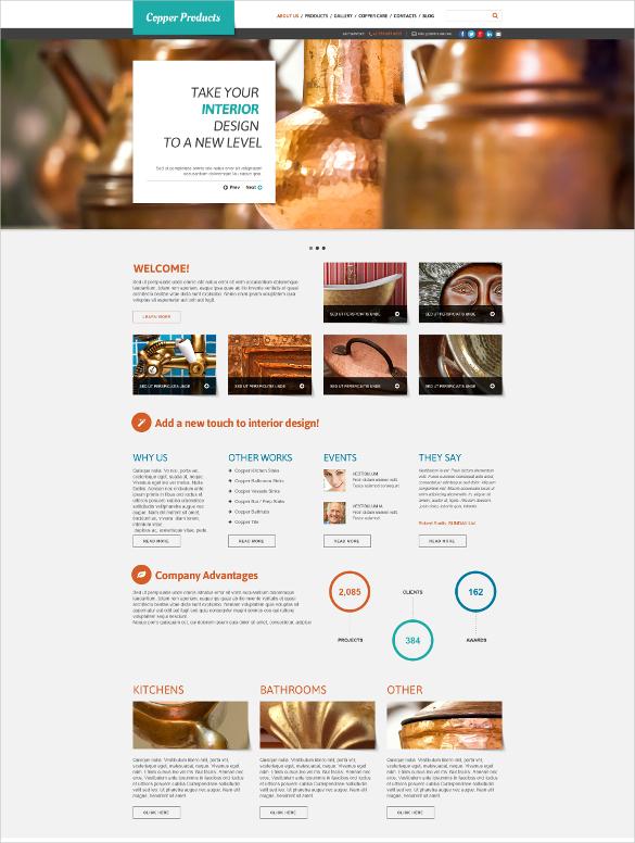 interior plumbing website template
