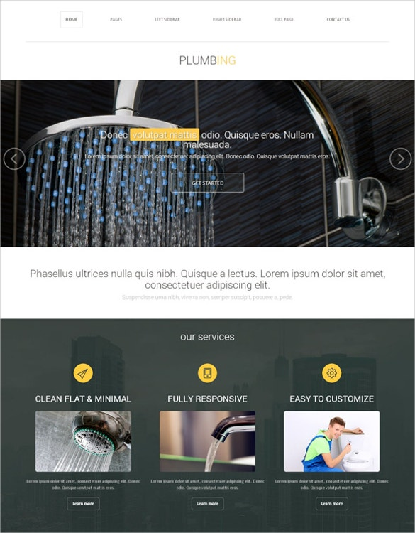 19 amazing plumber website themes templates free premium plumbing services website template free demo download pronofoot35fo Image collections