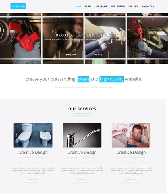 plumbing accessories html websitetemplate