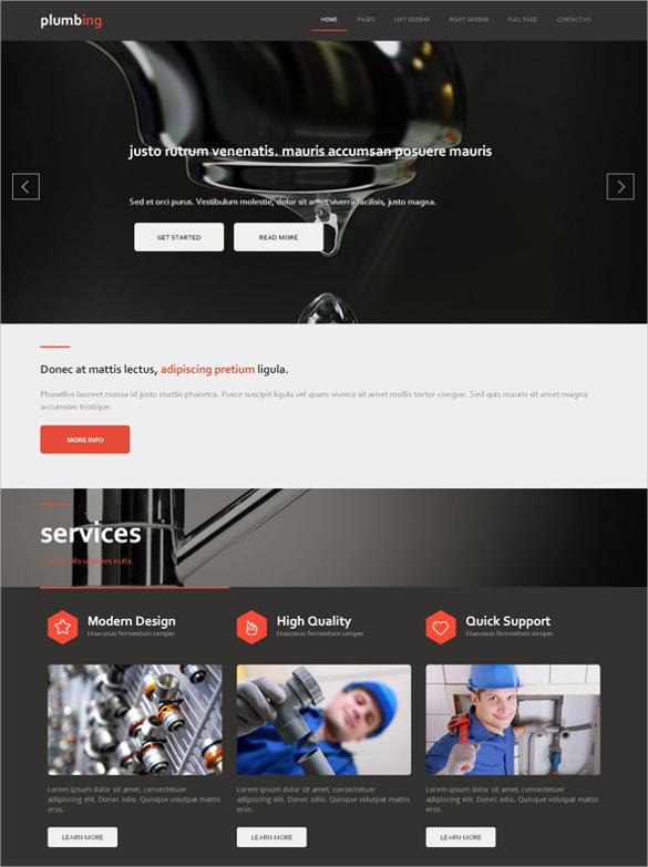 responsive plumbing website template