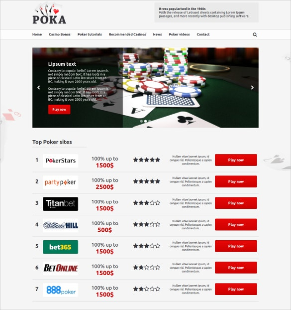 awesome poker wordpress theme