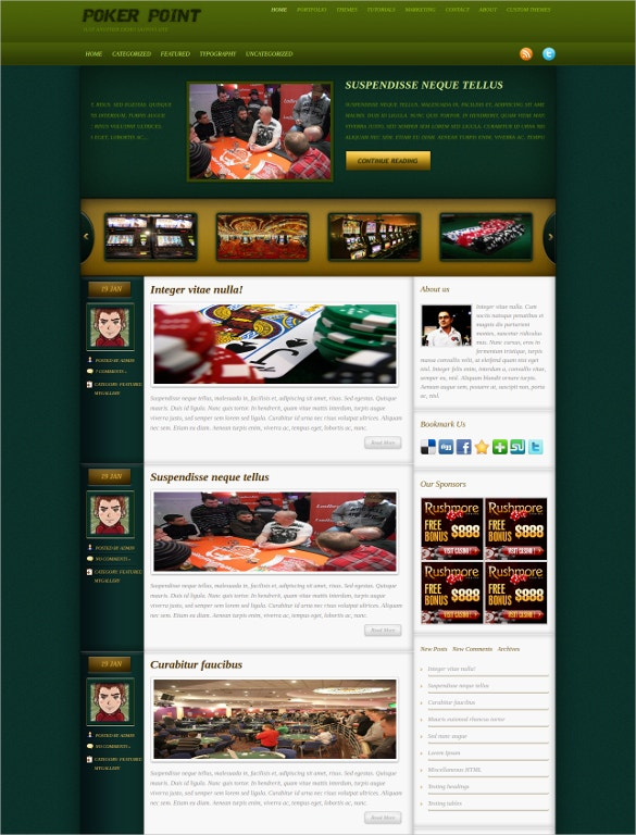 poker point wordpress theme