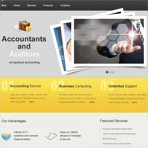 26+ Amazing Accountant Website Themes & Templates | Free & Premium ...