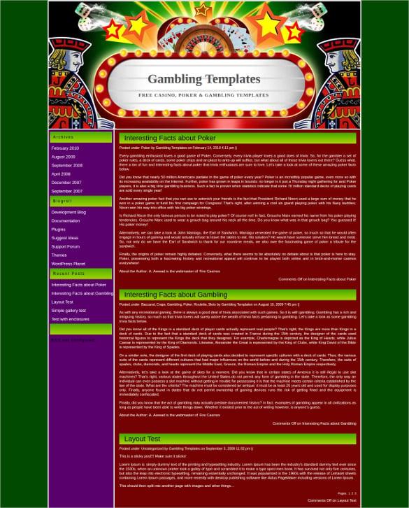16+ Poker WordPress Themes & Templates | Free & Premium Templates