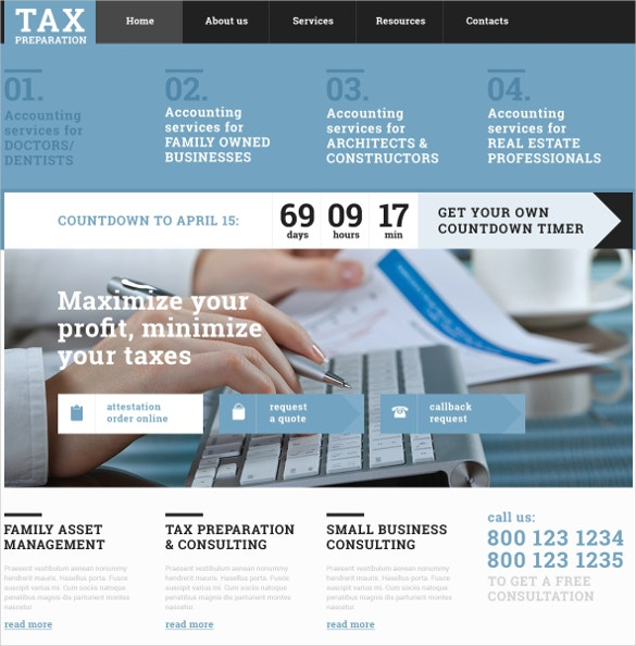 multi services accounting website template 75