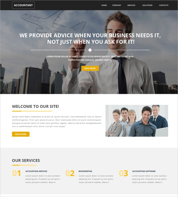 premium accounting website template 75