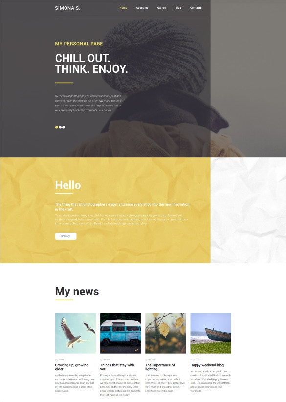 simona wordpress html5 theme