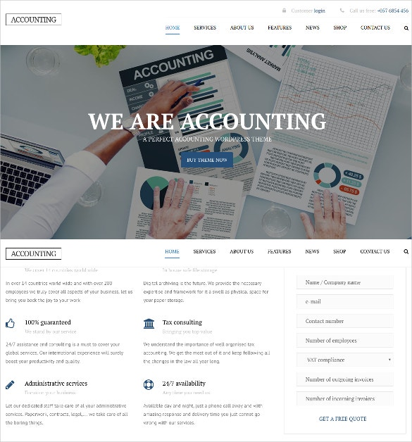 business wordpress website theme for accountants 59
