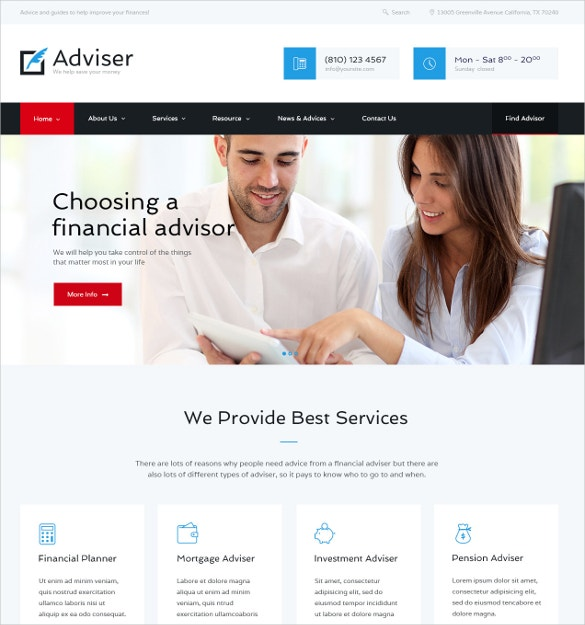 finance accounting wordpress website theme 59