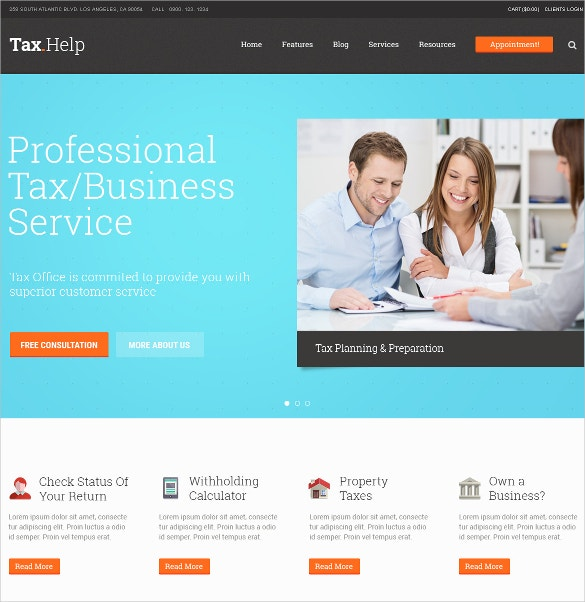 corporate finance accounting wordpress website theme 59