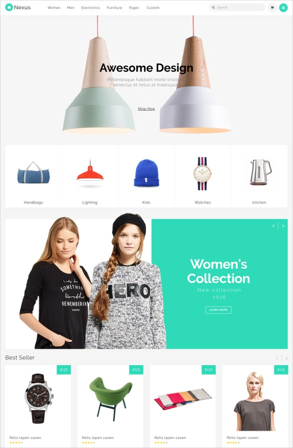 responsive ecommerce html5 template