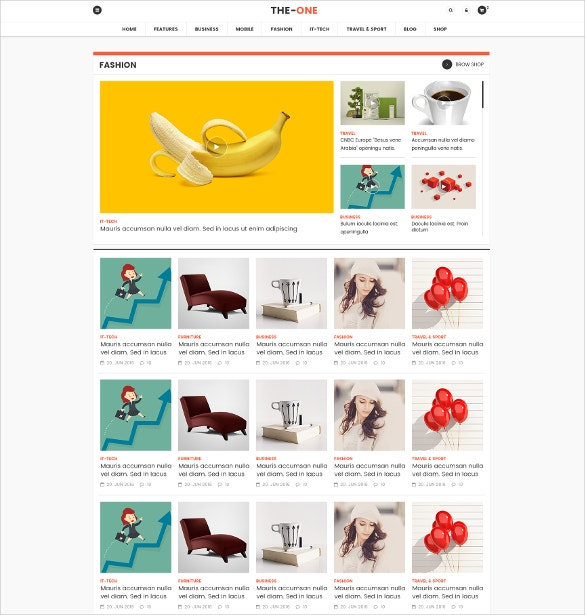 responsive news blog magazine html5 theme