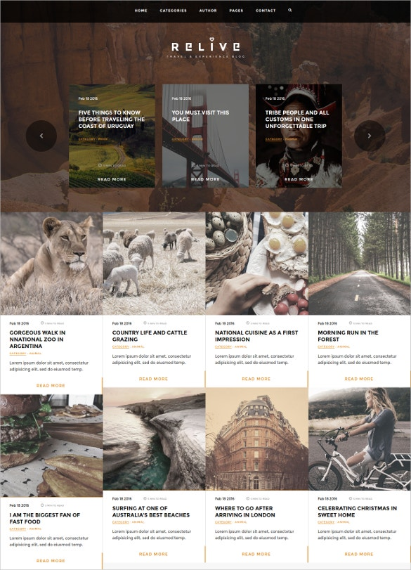 traveling blog html template