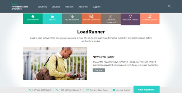 hp loadrunner load testing tool