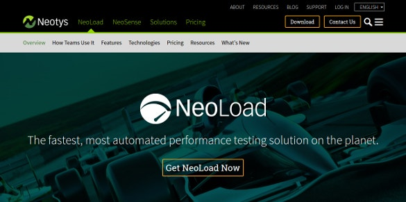 neoload automated performance testing solution tool
