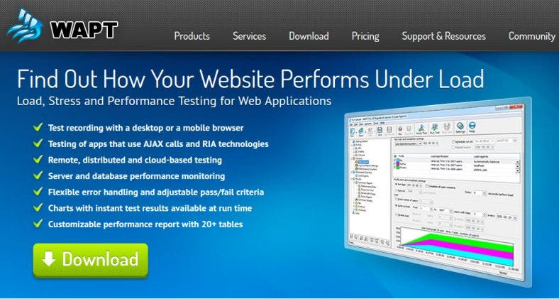 wapt load and atress testing tool 788x421
