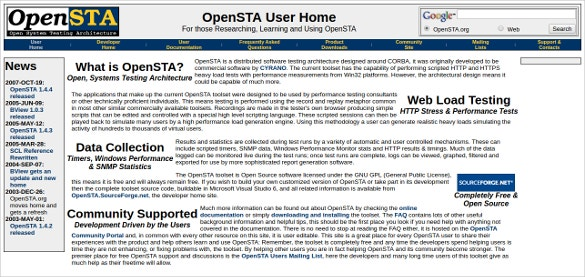 opensta performance tests tool