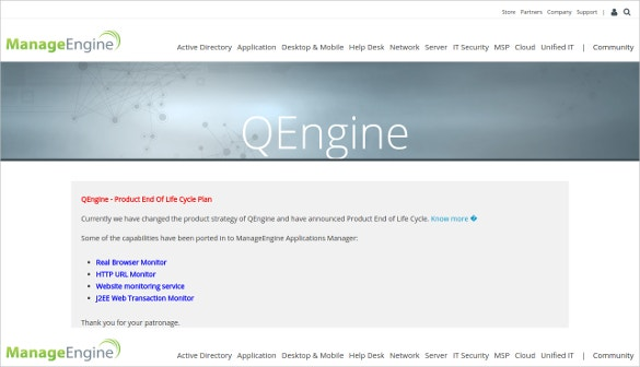 qengine manageengine performance testing tool