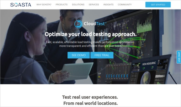 soasta cloudtest performance testing tool