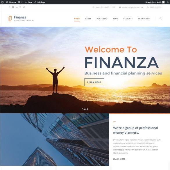 accountant advisor wordpress websitetheme 59