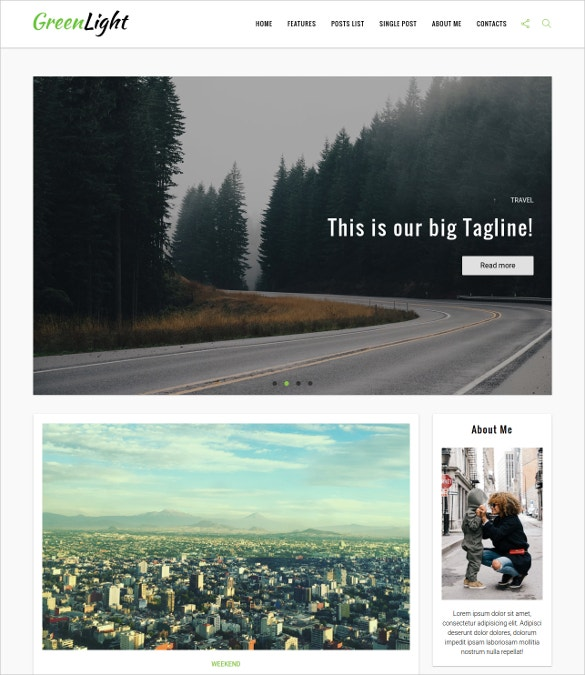 personal blog html5 template
