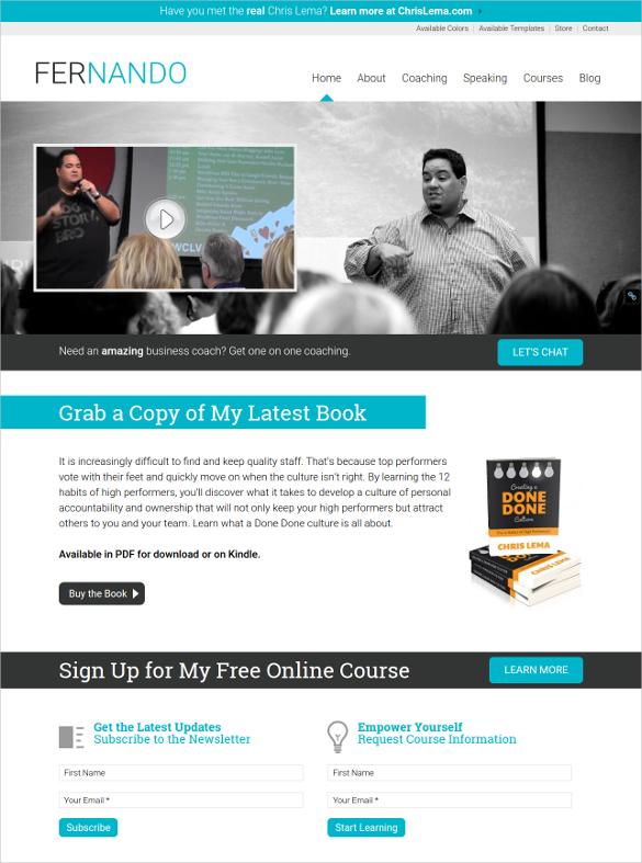 amazing coaching html5 child theme