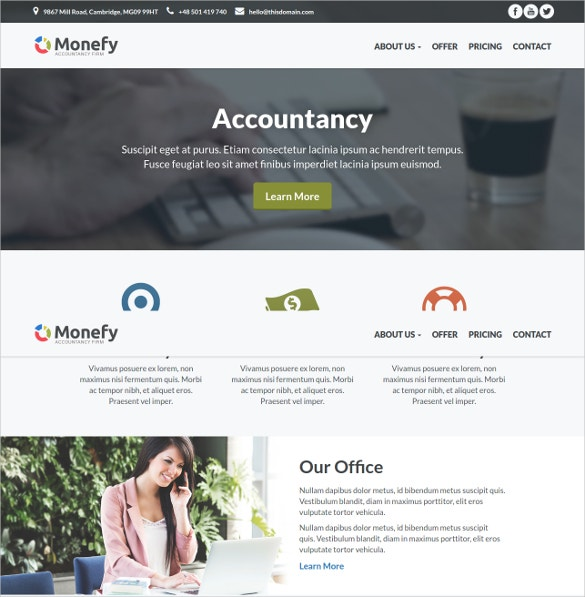 best for small business accountancy wordpress website theme 20