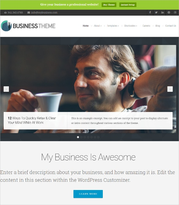 business accountant services wordpress website theme 69