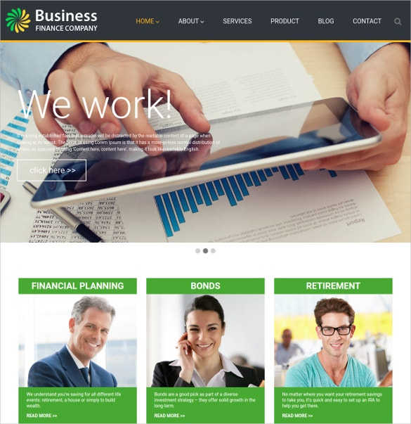 investment accountant wordpress website theme 69